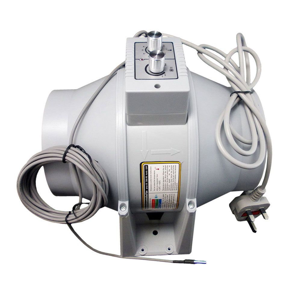 High Temperature Inline Fans : Inline duct fan with temperature control all sizes