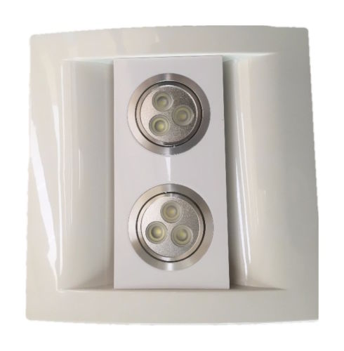 "Bathroom Kitchen Ceiling Extractor Exhaust Fan with LED Light 100mm 4"" White or Silver front  Panel"