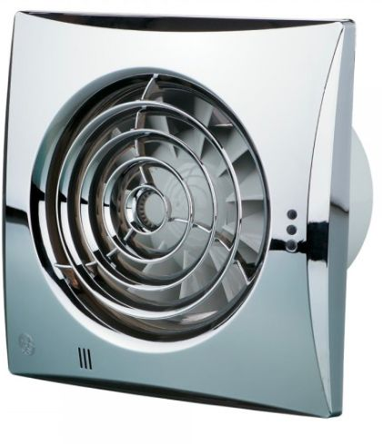Blauberg Chrome Calm Low Noise Energy Efficient Bathroom Extractor Fan 100mm