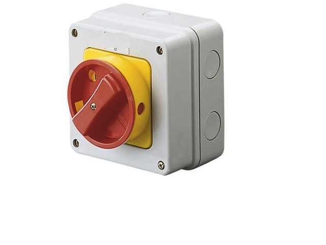Isolator Rotary Enclosed 25Amp