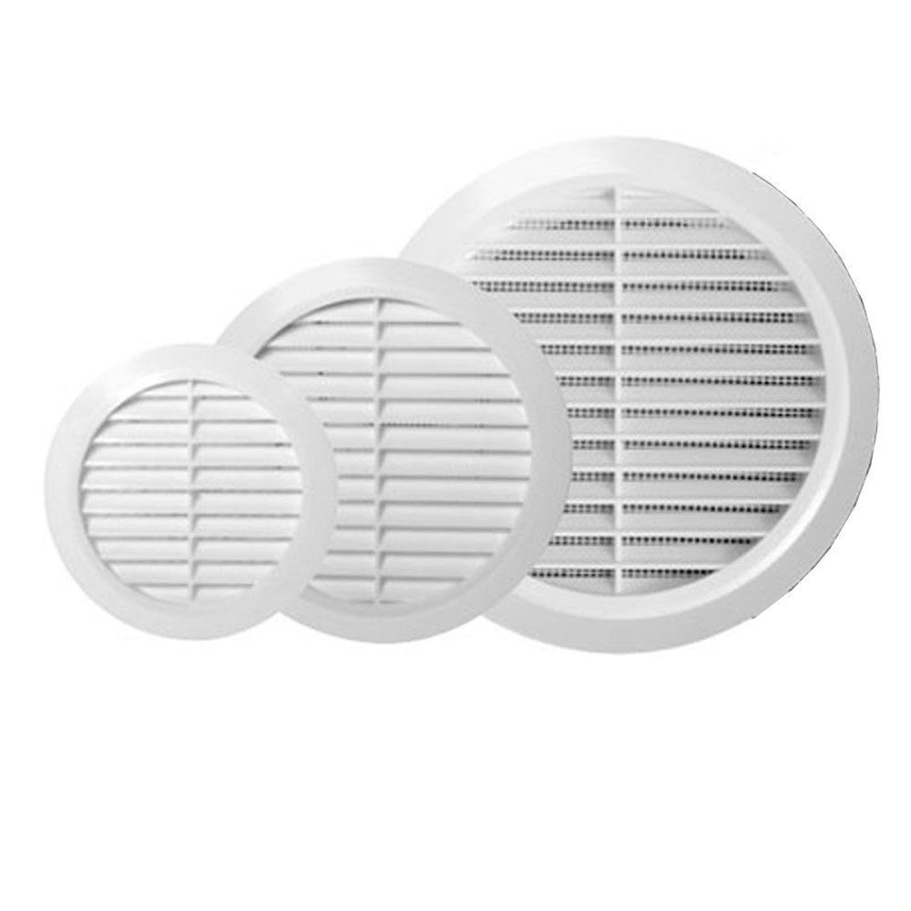 White Circle Grille Air Vent 100mm 125mm 4 5 6 Ducting